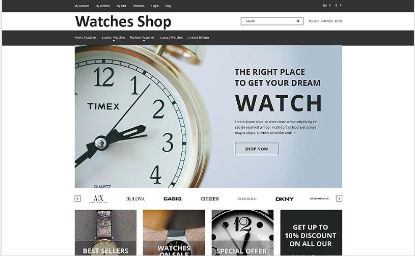 Watches Shop Magento Theme