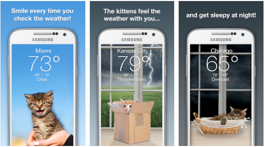 Weather Kitty Best Free Weather Android App