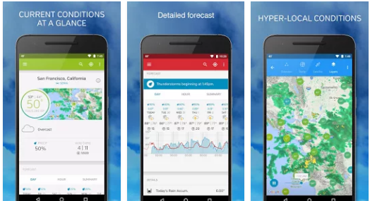 Weather Underground Best Free Weather Android App