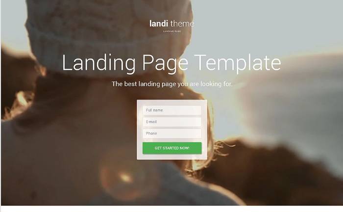Landing Page HTML Website Templates