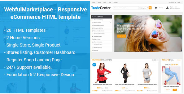 Webful Marketplace - Responsive eCommerce HTML Template