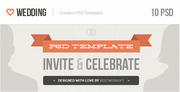 Wedding - Creative PSD Template