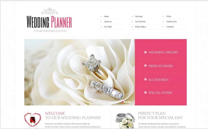 Wedding Planner Website Template