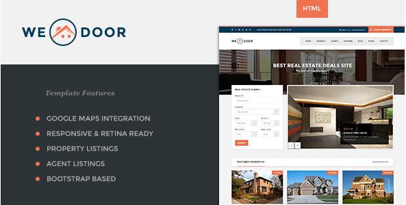 Wedoor - Responsive Real Estate HTML Template