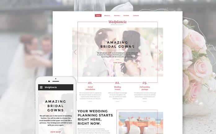 Wedplancia Website Template