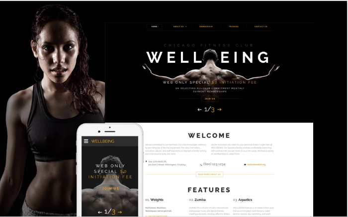 Wellbeing Website Template