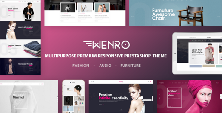 Wenro - Multipurpose Responsive Prestashop Theme 16 Homepages Fashion, Furniture, Digital and more