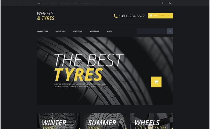Wheels & Tires Responsive OpenCart Template