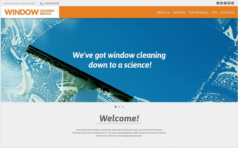 Window Cleaning Responsive Website Template