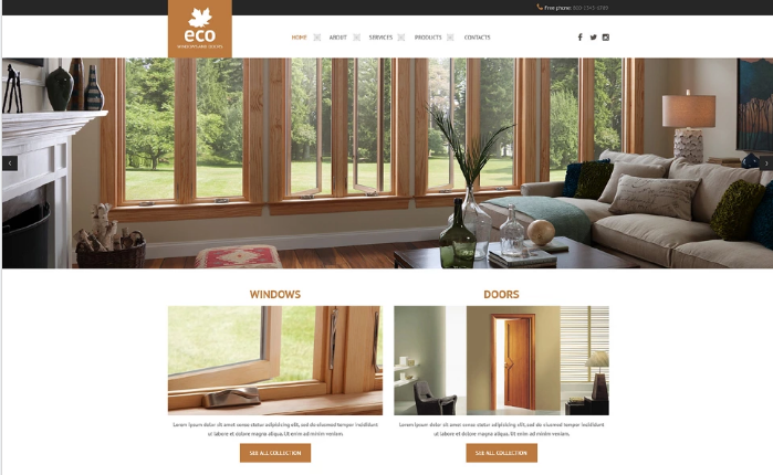 Best Interior Design HTML Website Templates