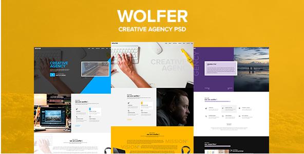 Wolfer – Creative PSD Template