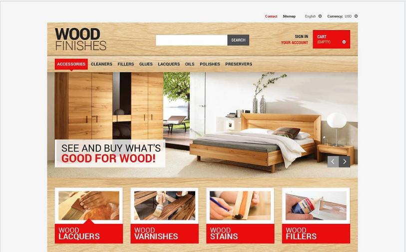 Wood Finishing PrestaShop Theme