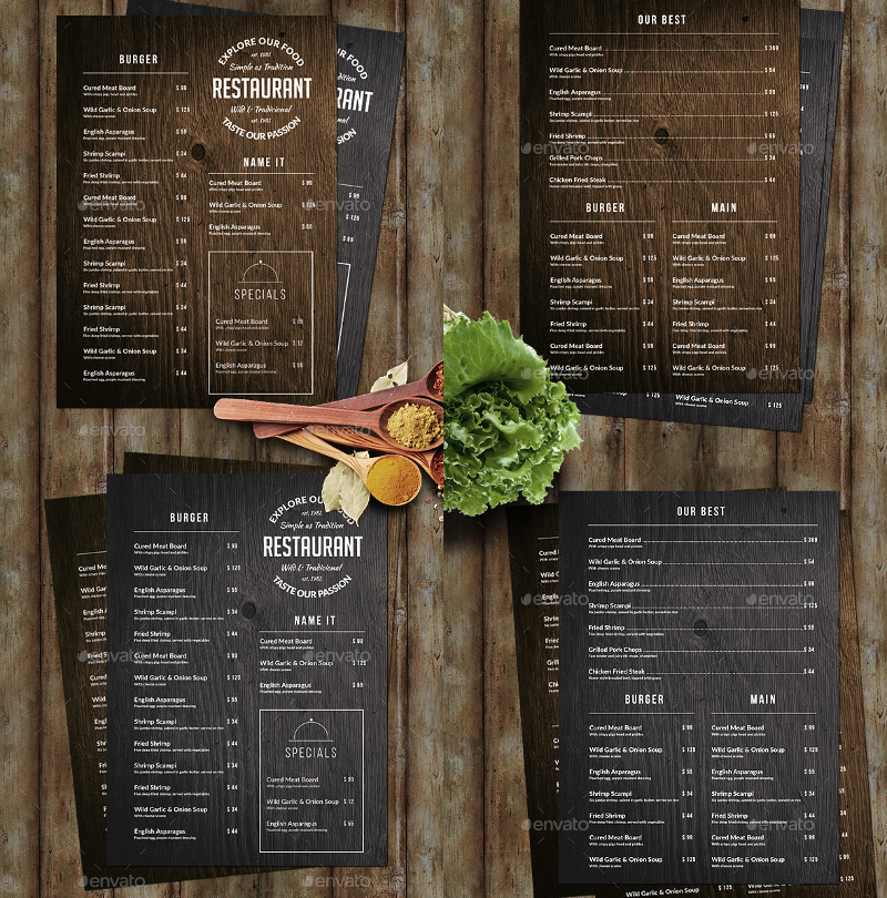 Wood-Food-Menu