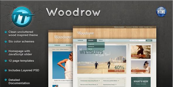 Woodrow eCommerce HTML theme