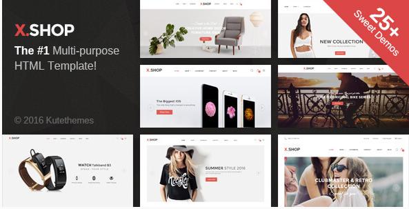 X-Shop - Kute HTML Template