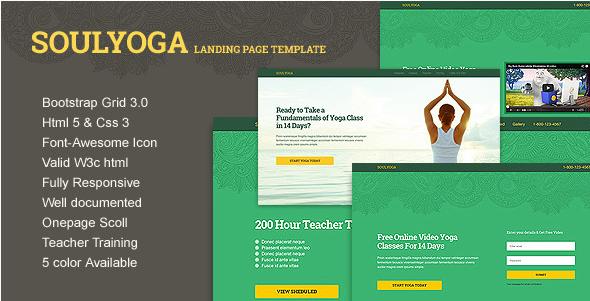 Yoga Landing Page HTML5 Template
