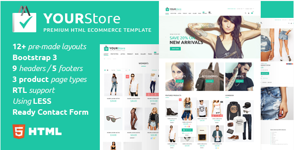 YourStore - HTML eCommerce template