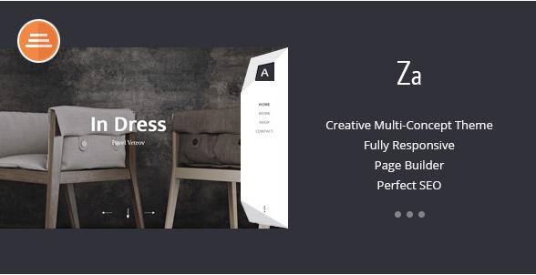 Za - Creative Fashion Portfolio HTML Theme