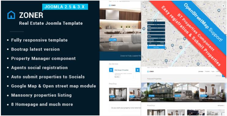 Zoner Solution for Joomla Real Estate website