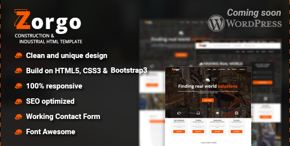 Zorgo Construction & Industrial HTML template