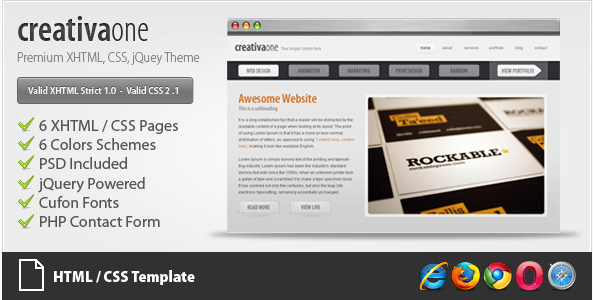 creativaone - Creative HTML CSS Theme