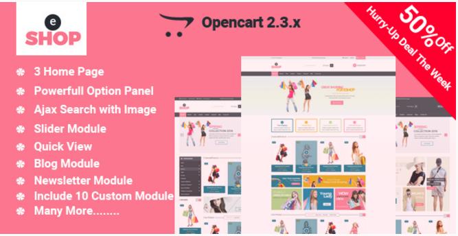 eShop-Multipurpose OpenCart Template