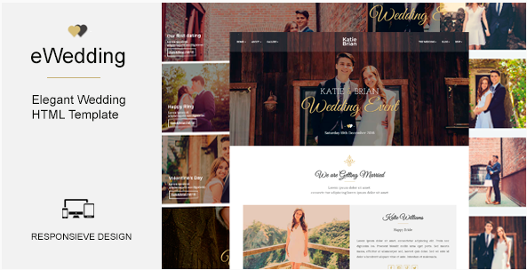 eWedding - Responsive HTML Wedding Template