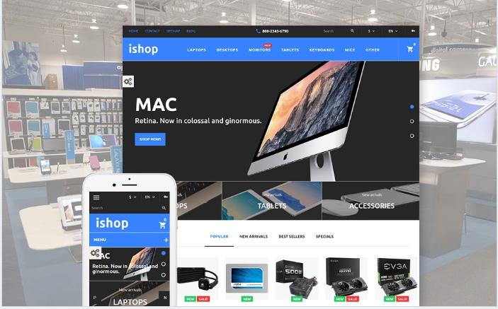 iShop - Computer Store PrestaShop Theme