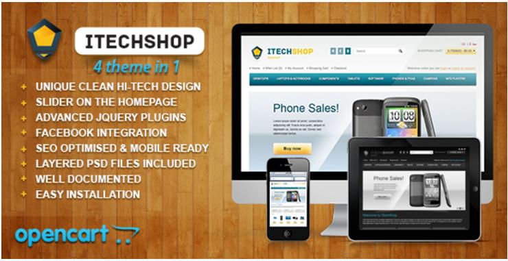 iTechShop: Technology OpenCart Themes
