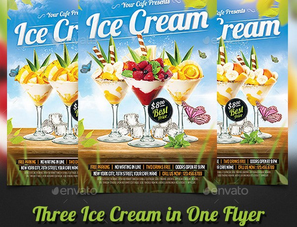 Ice Cream and Cupchake Shop Flyer Templates