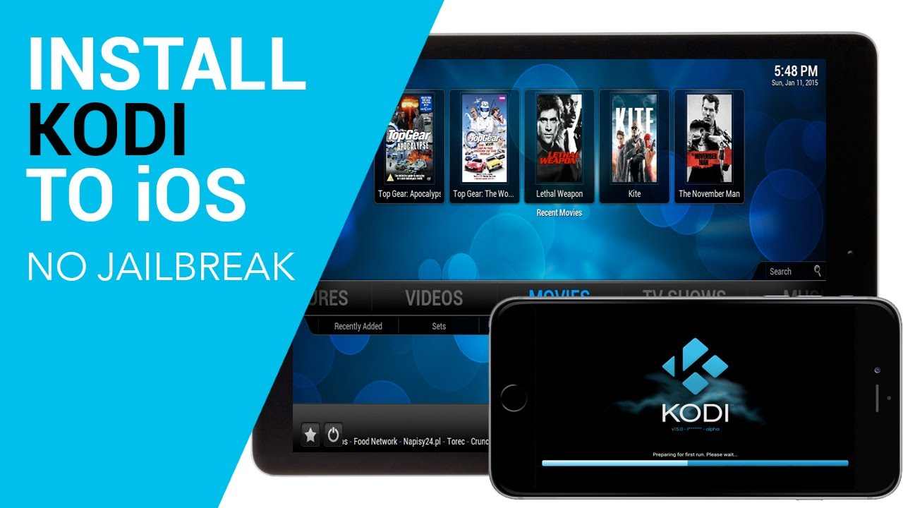 Install Kodi in iOS 10 Without Jailbreaking