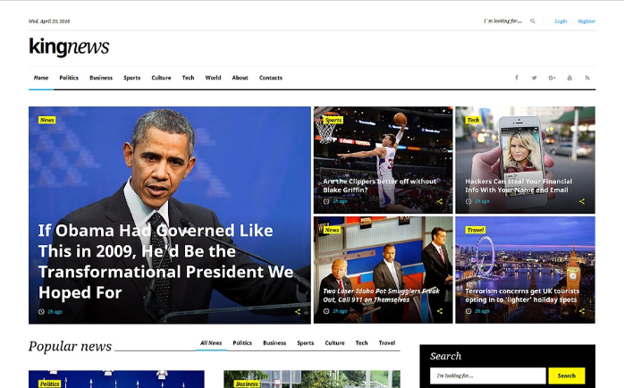 Best Media HTML Website Templates