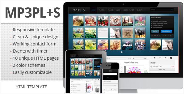 mp3Plus - Responsive Music HTML template