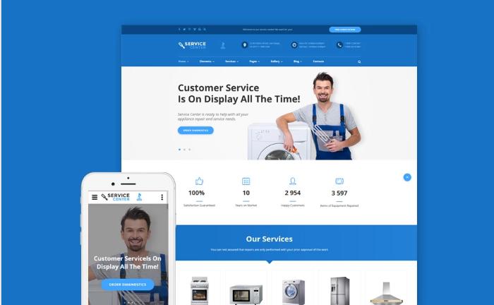 Maintenance HTML Website Templates