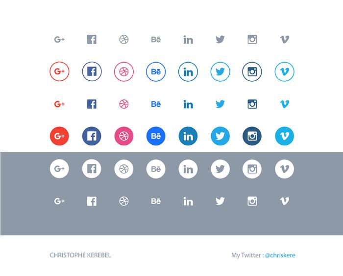 social-flat-icons