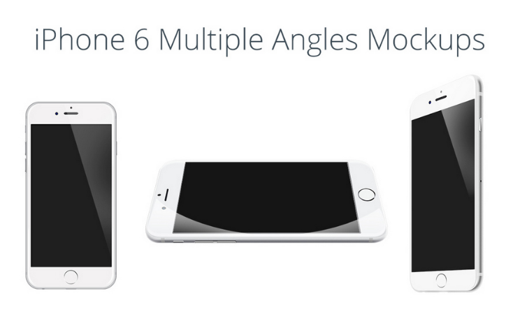 18 Multiple Angle iPhone Mockups Pack