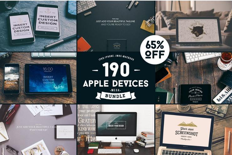 190 Apple Devices Mockup Bundle