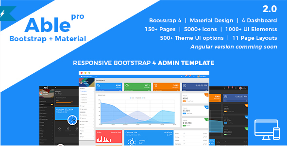 Able pro Responsive Bootstrap 4 Admin Template
