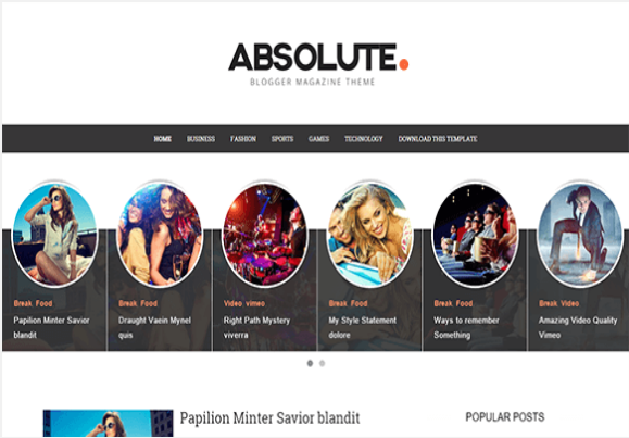 Absolute-Free Blogger Template