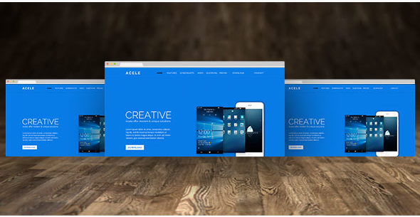 Acele-Mobile Apps Landing Page-PSD Template