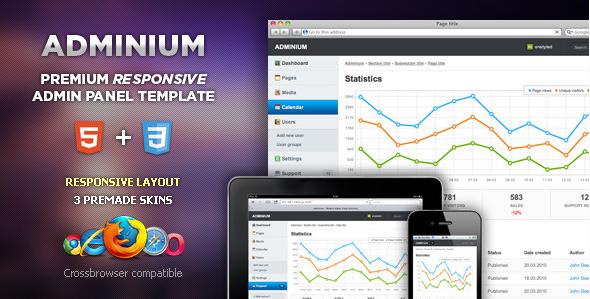 Adminium - Admin Panel Templates
