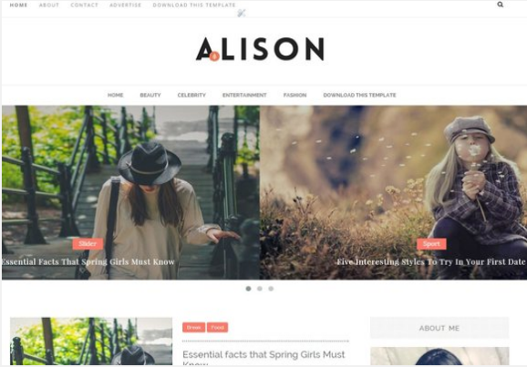 Alison-Free Blogger Template