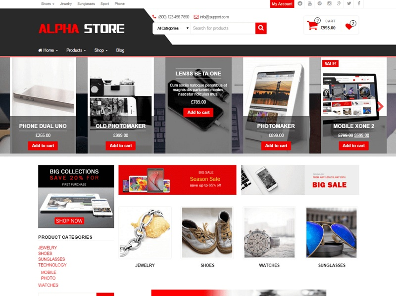 Alpha Store Free WordPress Theme
