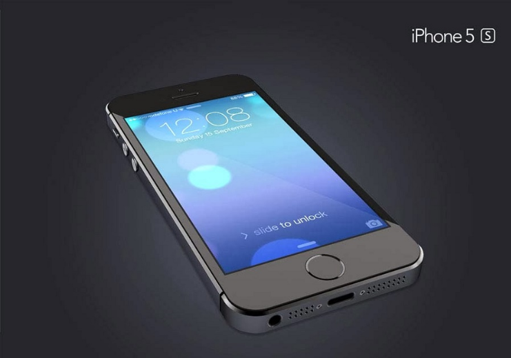 Angle View iPhone 5s Mockup