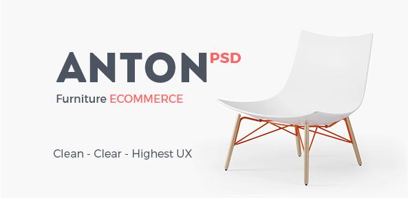 Anton Ecommerce Furniture PSD Template