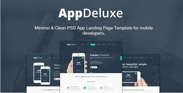 AppDeluxe - App Landing Page PSD Template