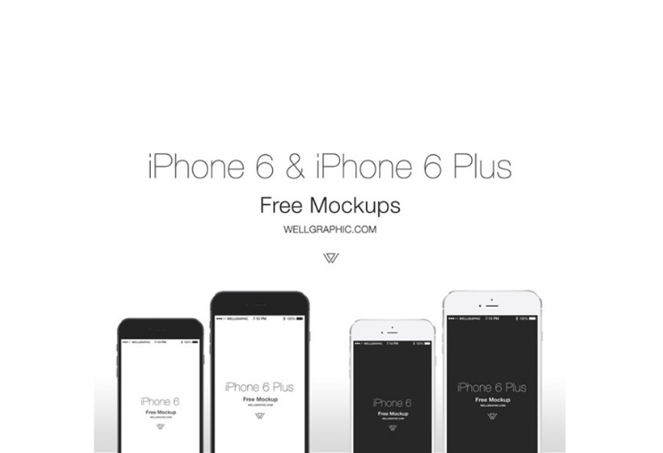 Apple iPhone 6 & iPhone 6 Plus Mockup