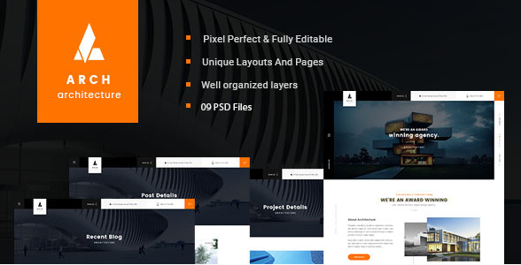 Arch - Multipurpose Onepage PSD Template