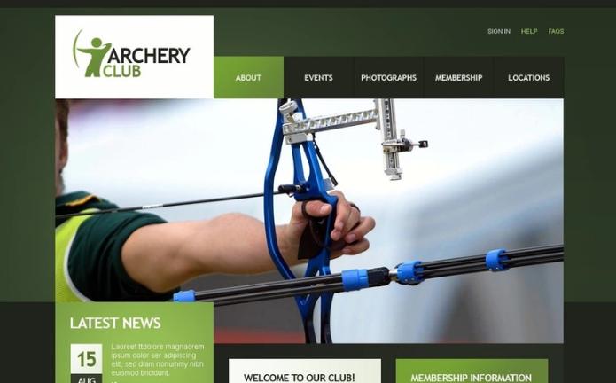 Archery PSD Template