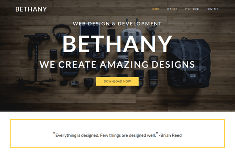 Bethany – Free Onepage Bootstrap